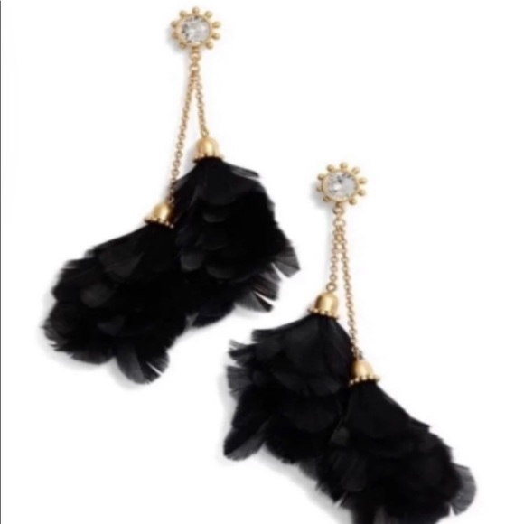 Kate Spade In Full Feather Earrings